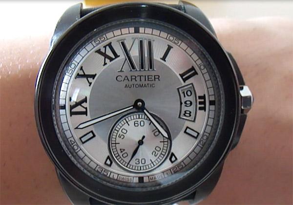 Plata Calibre de Cartier Dial Reloj de la reproducción