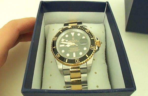 De dos tonos Replica Rolex Submariner Reloj