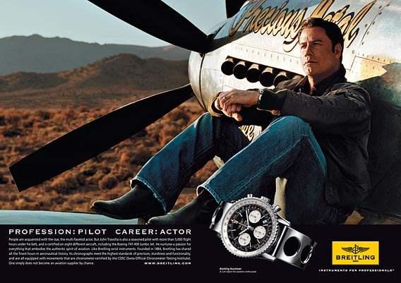 Disfrutar de una replica Breitling aviador, Breitling Travolta Breitling Navitimer