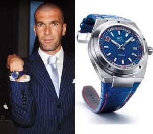 Zidane con la replica de la IWC