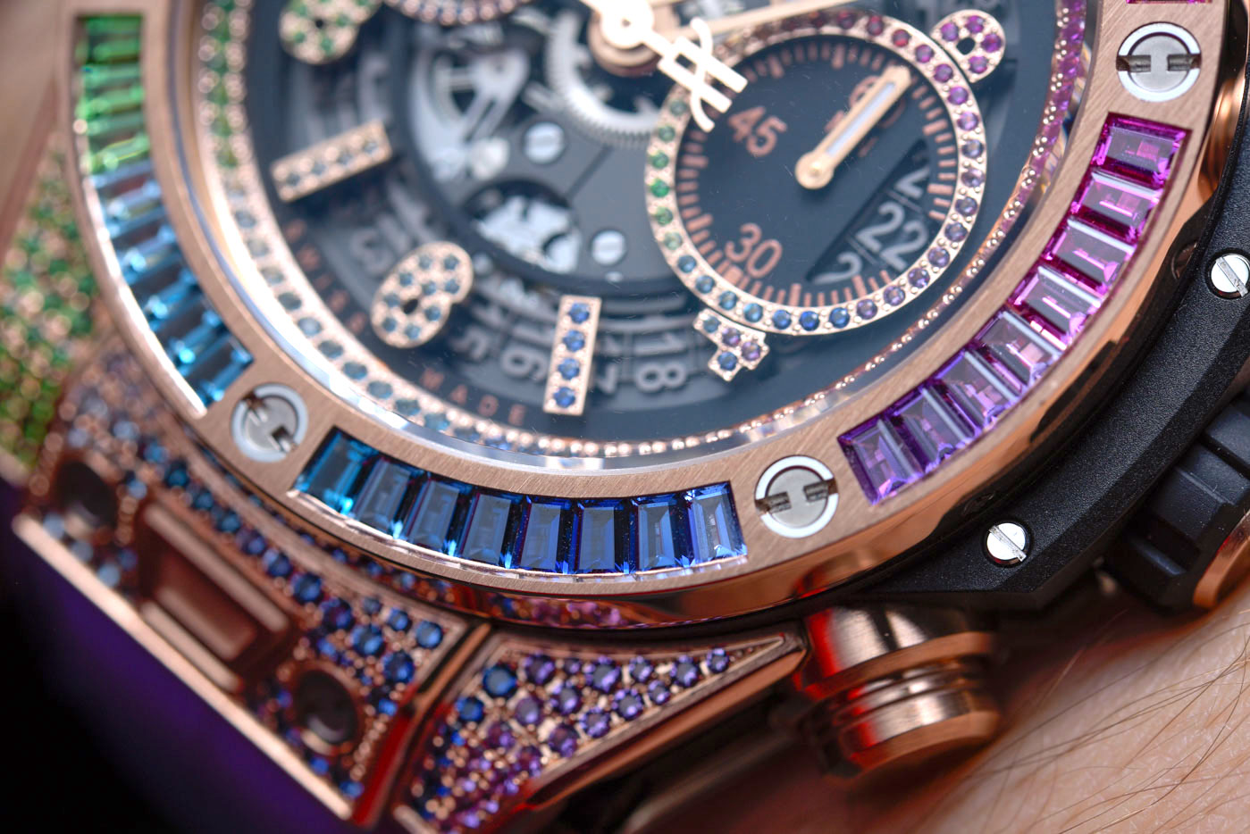 Hublot Big Bang Unico Rainbow King Gold 45mm Replica